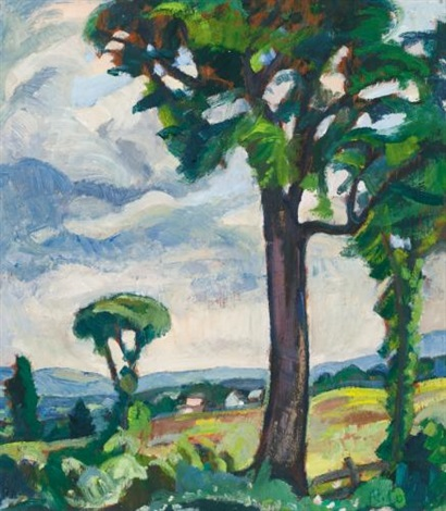 summer landscape by nora frances elisabeth collyer