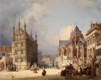 marktplatz in leyden by michael neher