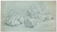 landschaft mit felsblöcken by johann wilhelm schirmer