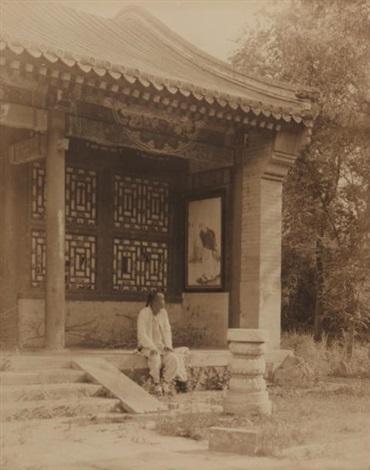 homme dans la rue homme assis devant un temple 2 works by horace jackson