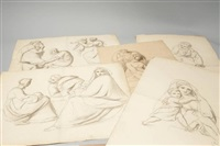 etudes de personnages (5 studies) by françois joseph navez