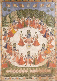 a pichhawai of rasaslila for sharad purnima by anonymous-indian (19)