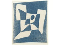 a small collection of woodcuts (4 works) by hans arp