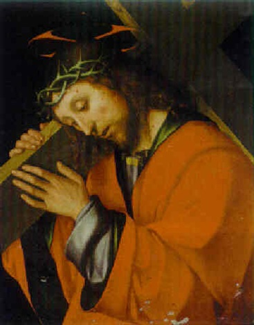 christ carrying the cross by gian francesco de maineri