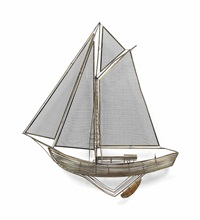 model of a sailing boat by curtis jere