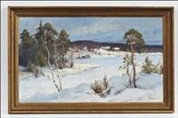 talvimaisema - vinterlandskap by arthur heickell