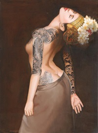 wanita bertato (lady with tattoo) by wahyu srikaryadi