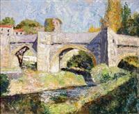le pont sur la rivière by victor charreton