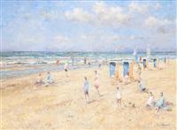 dimanche à la plage by arie van noort