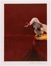 right panel from, second version of the triptych by francis bacon