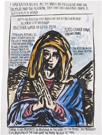 untitled i had rather believe by raymond pettibon
