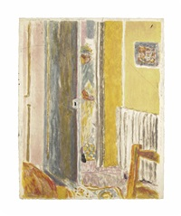 la radiateur, from: album pierre bonnard by pierre bonnard