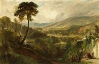 a view near holyrood palace, edinburgh by george henry andrews