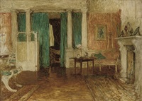 background for 'the first cloud' by sir william quiller orchardson