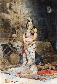jeune fille au harem by mario spinetti