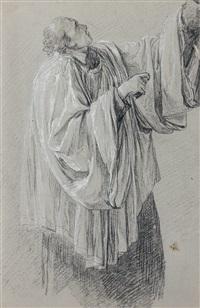 homme en robe d'église (study) by anicet charles gabriel lemonnier