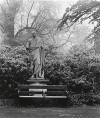 chiswick house garden (before april 14, 1945) by bill brandt