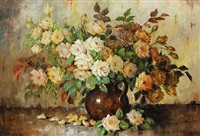 still life with roses by carl h. fischer