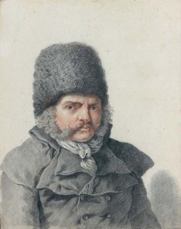 portrait dhomme en buste by pierre alexandre wille