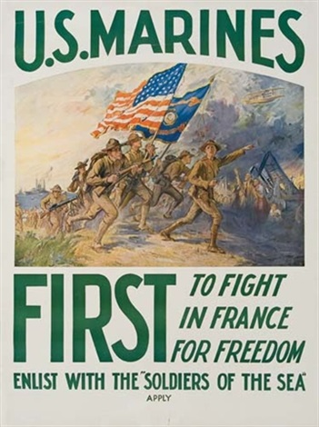 us marines first by frederick coffay yohn