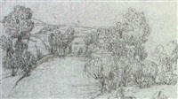 landscape with trees by pauwels van hillegaert