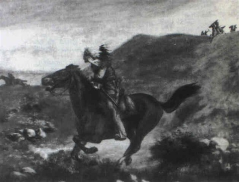 indians on horseback by henry metzger