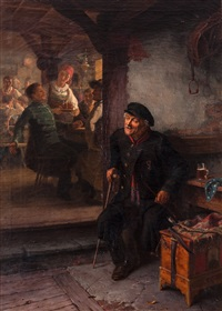 scene from a tavern by eliphalet frazer andrews