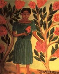 femme aux fleurs by pierre joseph valcin
