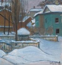view of moscow under snow by elizaveta sergeevna kruglikova