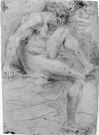 study of a male nude by andrea camassei