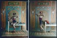 décor pompéien (2 works) by edmond goldschmidt