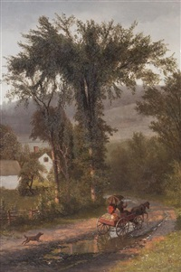 a ride in the country by albert bierstadt