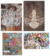 mccarren swimming pool; chandelier, venice; chandelier, new york; eder and girard by assume vivid astro focus