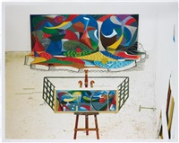 the studio march 28th 1995 by david hockney
