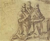tre figure inginocchiate by alessio gimignani