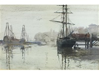 a misty morning, woolloomooloo, sydney by julian rossi ashton