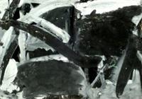 ohne titel, schwarz/grau by werner von mutzenbecher