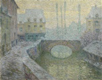 neige, guincamp by henri le sidaner