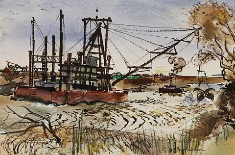 dredging the sacramento river by barse miller