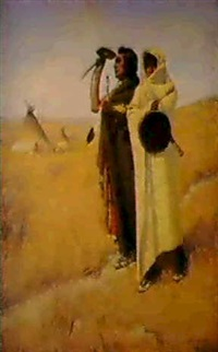 a native american scene by de cost smith
