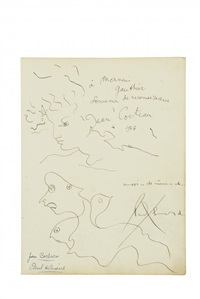 portraits by jean cocteau and paul eluard