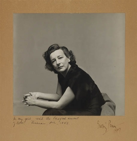 portrait of lillian hellman by irving penn