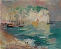 le soleil sur la falaise by guillaume dulac