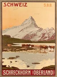 schweiz/schreckhorn (oberland) by plinio colombi