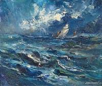 bateau dans la tempête by robert falcucci