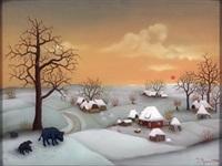 winterlandschaft by ivan generalic