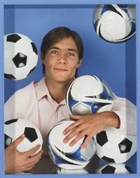 man (soccer balls) by elad lassry