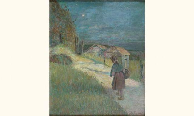 paysage au crépuscule by edward grenet