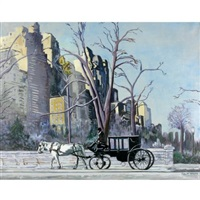 horse and carriage by central park by philip h. myers