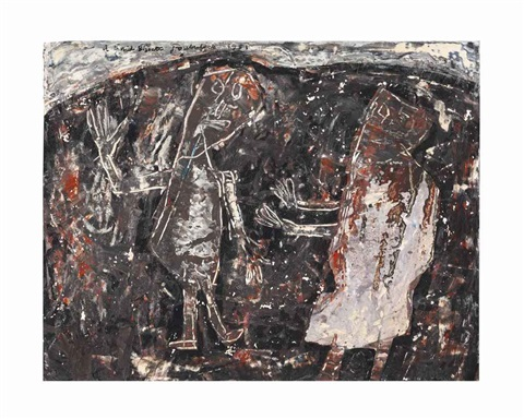 deux personnages by jean dubuffet